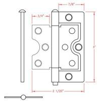 Buy cheap 3inch Narrow Butterfly Hinges from wholesalers