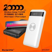928WP wireless quick charging power bank dual quick charging PD+QC3.0 LED display 20000mah Manufactures