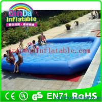 China PVC Inflatable Swimming Pool water game pool inflatable pool with cover on sale