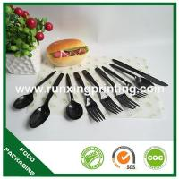 plastic spoon, knife, Manufactures