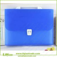 China A4 colorful pp 13 pockets expanding file folder with handle on sale