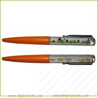 China Floating ball pen with logo printing on sale