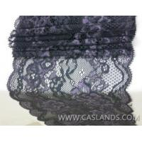 Sexy double colored black lace fabric for bra LCF22560 Manufactures