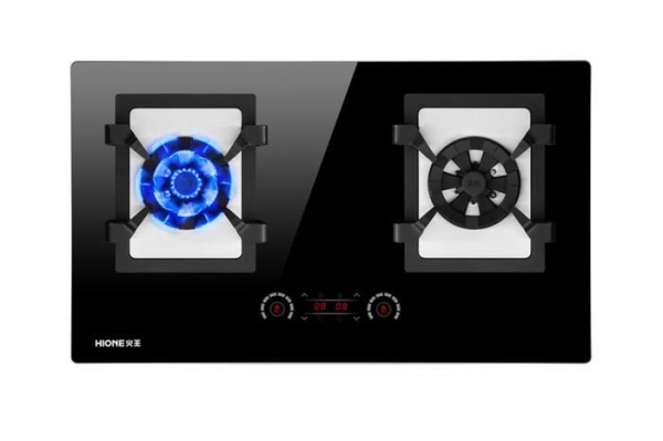 China Black Glass Gas Cooktop With Touch Control