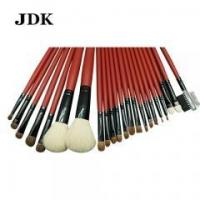 Quality 22pcs High Level Wood Handle Natural Hair Cosmetic Makeup Brush for sale