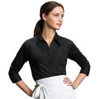 Quality Aprons & service KK738: Women's bar shirt long sleeve for sale