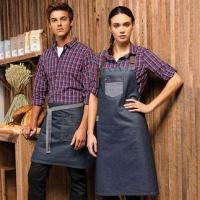 Buy cheap Aprons & service PR135: Division waxed-look denim waist apron from wholesalers
