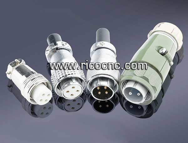 Quality Spindle Motor End Plug Connectors for CNC Router Spindles for sale