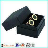 Buy cheap Cardboard Cufflink Packaging Black Gift Box from wholesalers