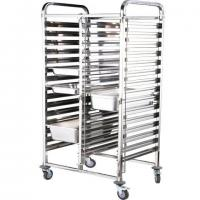 Extria high Double-Lines Stainless Steel Gn Pan Trolley