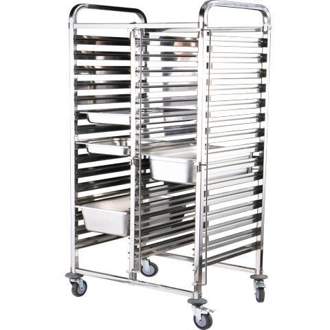 Quality Extria high Double-Lines Stainless Steel Gn Pan Trolley for sale