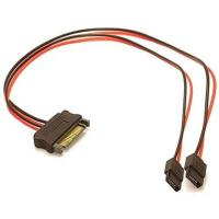 China SATA 15-pin power to 2x 6-pin slimline SATA power cable adapter on sale