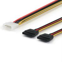China SATA Power Cable Splitter Molex 4pin to Serial ATA 15pin x 2 Male Female Y Hard Drive Cables 15CM on sale