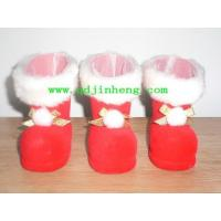 plastic Christmas boots pile coating red plastic Christmas boots for candy 5cm Manufactures