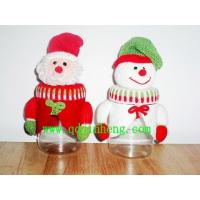 plastic Christmas boots santan and snowman head with plastic bottle for candy Manufactures