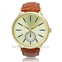 Buy cheap VT-AS3013 Fashion Gold Case Genuine Leather Band Slim Watch from wholesalers
