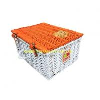 Folding Outdoor Willow Wicker Picnic Basket Manufactures