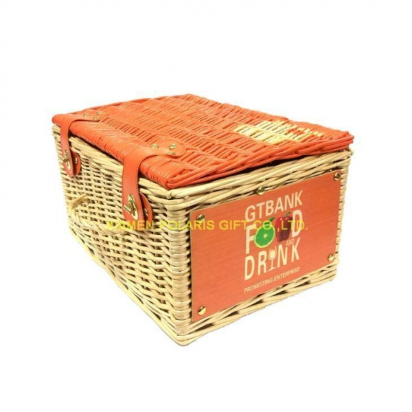 Quality Handmade Natural Wicker Picnic Basket for sale