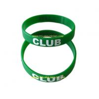 China Popular Printed Silicone Wristbands Rubber Bracelets on sale