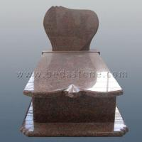 French Curve Cremation Monuments with Headstones Manufactures