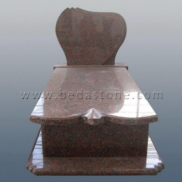 China French Curve Cremation Monuments with Headstones