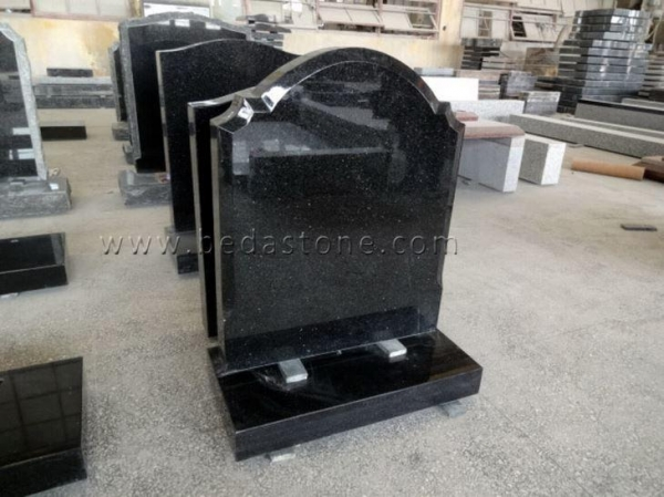 China Black Granite Cremation Gravestone for Sale
