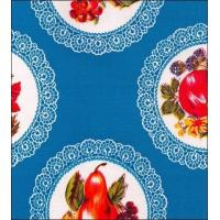 Doily Blue Oilcloth Manufactures