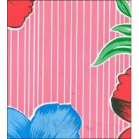 Buy cheap Big Flowers and Stripes Pink Oilcloth from wholesalers