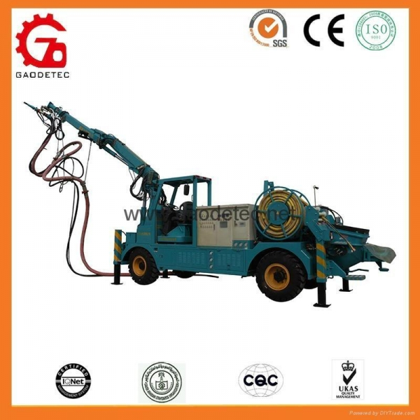China HSC-2515 tunnel telescopic boom shotcreter concrete spraying manipulator