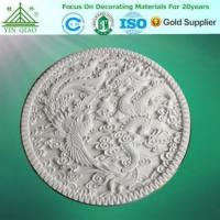 YinQiao China factory good quality artistic gypsum for decoration loong and phoenix disc Manufactures