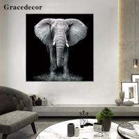 Buy cheap Elephant Pattern Acrylic Giclee Painting-CF142 Animals Art Painting from wholesalers