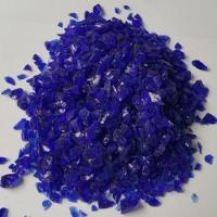 Buy cheap cobalt blue glass chip for swimming pool from wholesalers