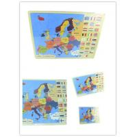 Buy cheap Wooden jigsaw puzzle map from wholesalers