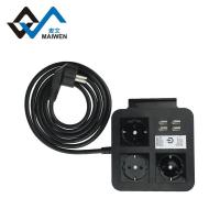 Good quality euro 4USB power stip Manufactures