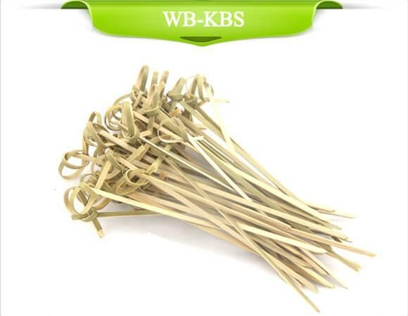 Quality Green Knotted Bamboo Skewer for sale
