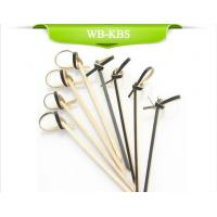 Buy cheap Black Knotted Bamboo Skewer from wholesalers