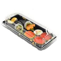Factory Wholesale Cheap Price Plastic Sushi Packaging Box With lid Plastic Take Away Sushi Container Manufactures