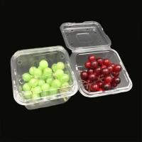 Buy cheap PET disposable blister food clear plastic dry fruit box with lid from wholesalers
