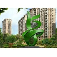 China Green Painted Contemporary Outdoor Metal Sculpture Abstract For Building on sale