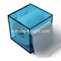 China Factory direct sale acrylic plastic tissue box clear plastic box wall mounted acrylic display box on sale