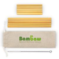 Buy cheap Bamboo straw with brush from wholesalers