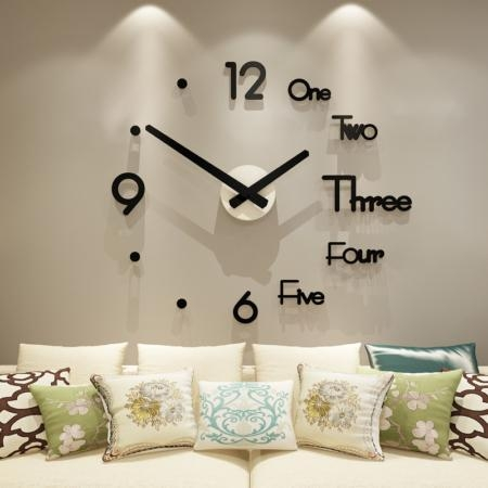 Quality Self Adhesive Acrylic DIY Creative Wall Decoration Clock for All Interiors for sale