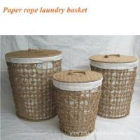 Round Paper Rope Weaving Laundry Basket Round Paper Rope Weaving Laundry Basket Manufactures