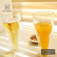 Buy cheap Crystal Glassware High Borosilicate Double Wall Juice Glass Cup from wholesalers