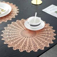 Buy cheap PVC Placemat JH8008 GOLD Vinyl Placemat from wholesalers