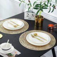 Buy cheap PVC Placemat JH8006 GOLD Vinyl Placemat from wholesalers