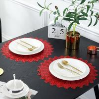 Buy cheap PVC Placemat JH8008 RED Vinyl Placemat from wholesalers