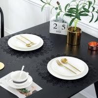 Buy cheap PVC Placemat JH8008 BLACK Vinyl Placemat from wholesalers
