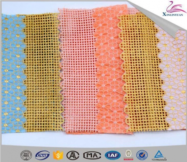 China Embroidery Cotton Eyelet Lace Fabric for Sales
