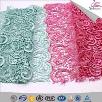 China Fruit Green Guipure Embroidery Lace Fabric on sale
